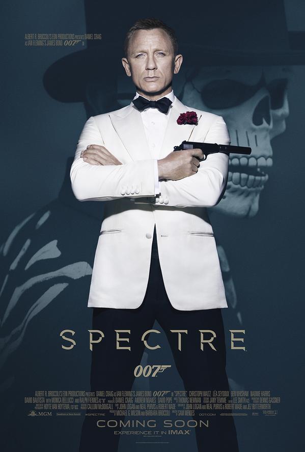 La Mort menace James Bond en fond sur l'affiche