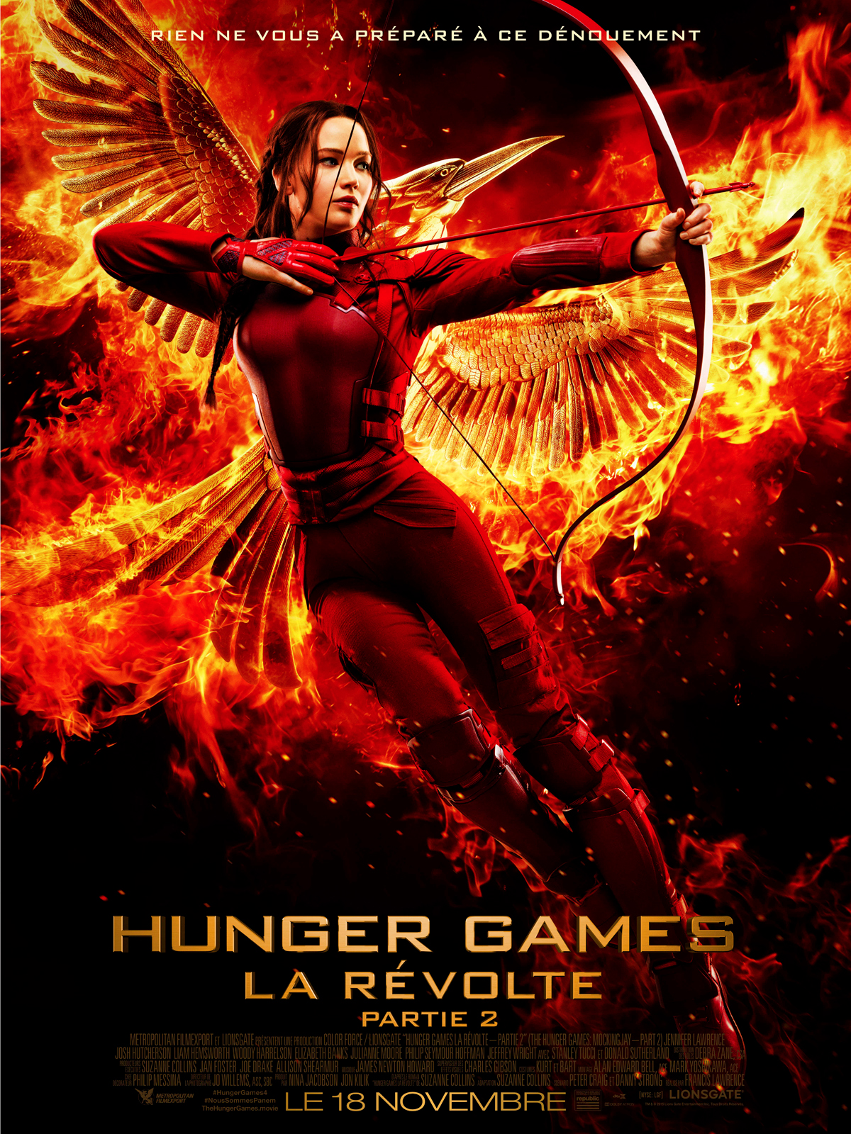 hunger games la r volte partie 2 dvd blu ray. Black Bedroom Furniture Sets. Home Design Ideas