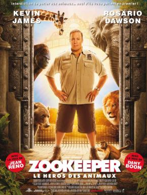 sortie dvd	  Zookeeper, Le Héros Des Animaux