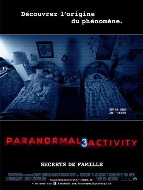 Jaquette dvd Paranormal Activity 3