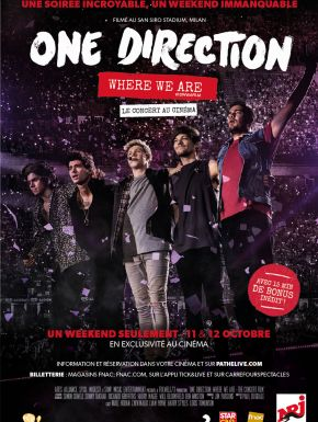 One Direction: Where We Are – The Concert Film en DVD et Blu-Ray