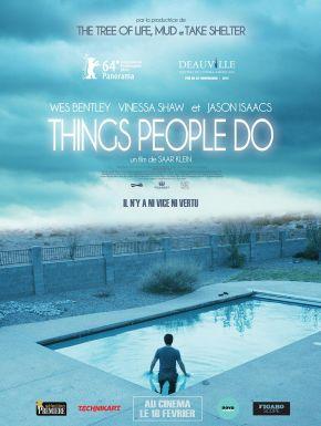 sortie dvd  Things People Do